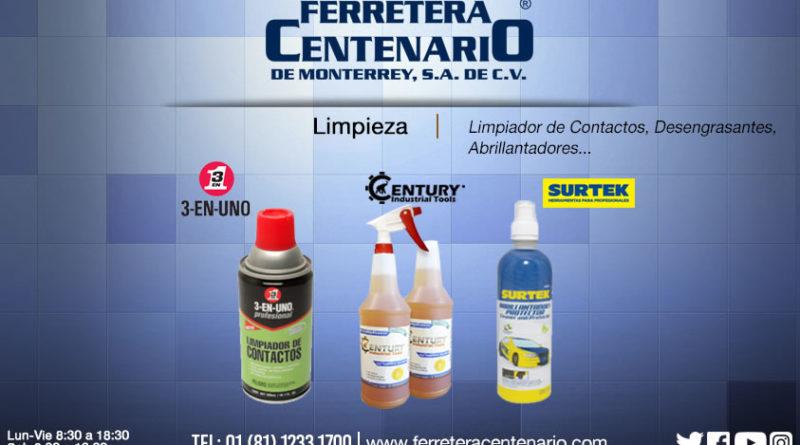 Limpiadores, desengrasantes y abrillantadores químicos