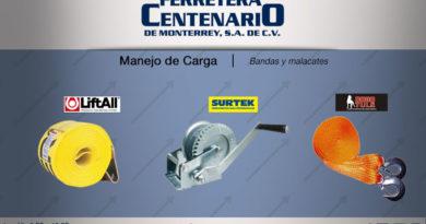 manejo carga bandas malacates ferretera centenario monterrey mexico
