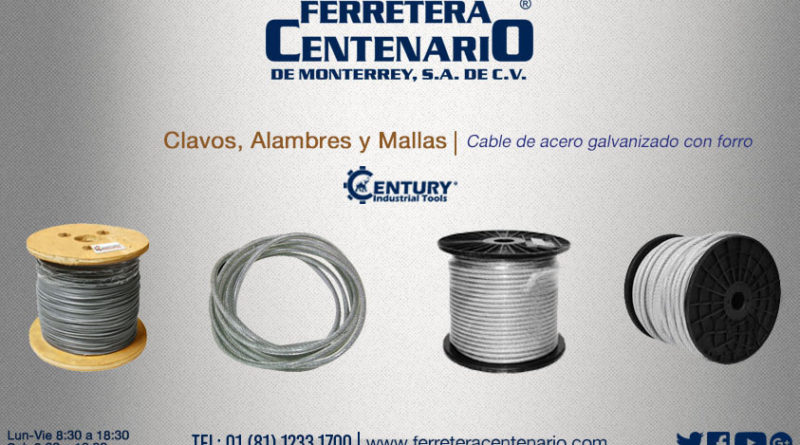 Cable deacero galvanizado con forro