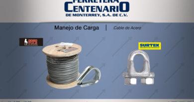 cable acero manejo carga ferretera centenario monterrey mexico