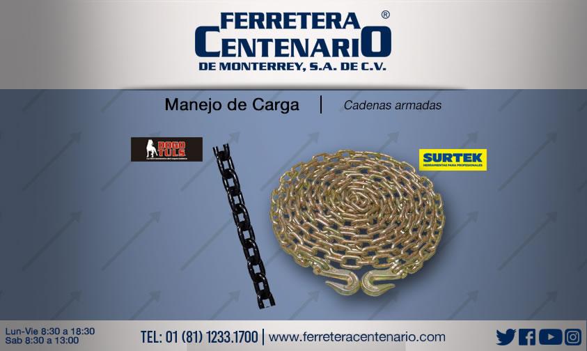cadenas armadas manejo carga ferretera centenario monterrey mexico surtek dogotuls