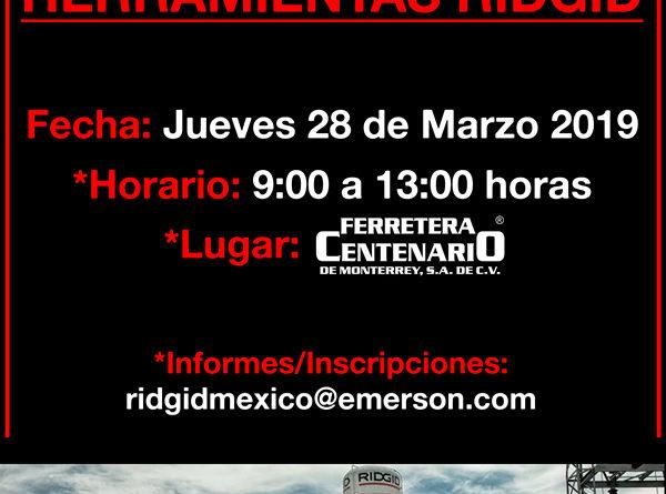 exhibicion herramientas ridgid ferretera centenario