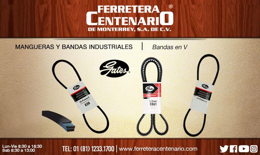 bandas industriales V ferretera centenario monterrey mexico gates