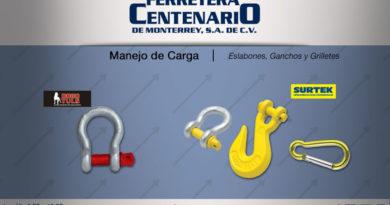 eslabones ganchos grilletes manejo carga ferretera centenario monterrey mexico