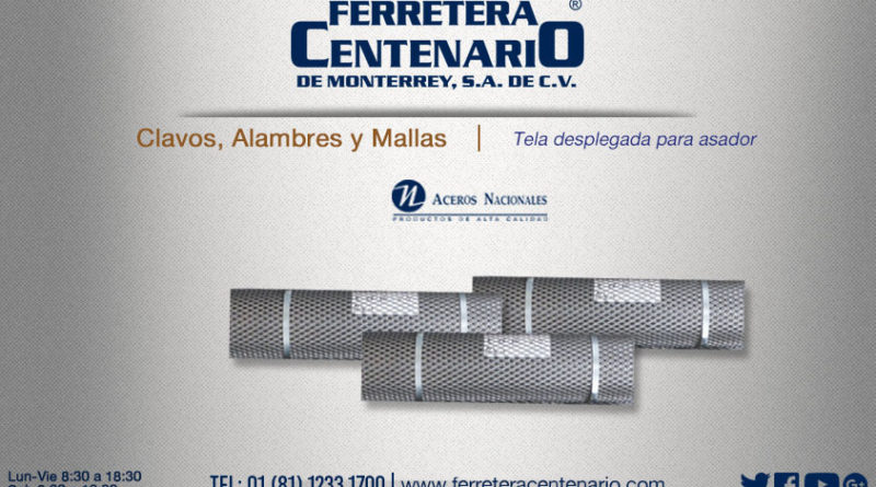 tela desplegada asador ferretera centenario monterrey mexico mallas