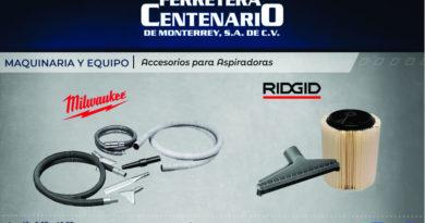 accesorios aspiradoras milwaukee ridgid ferretera centenario monterrey mexico maquinaria y equipo