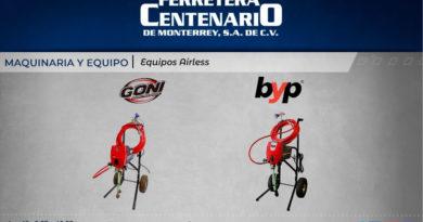 maquinaria airless equipo ferretera centenario monterrey mexico goni byp