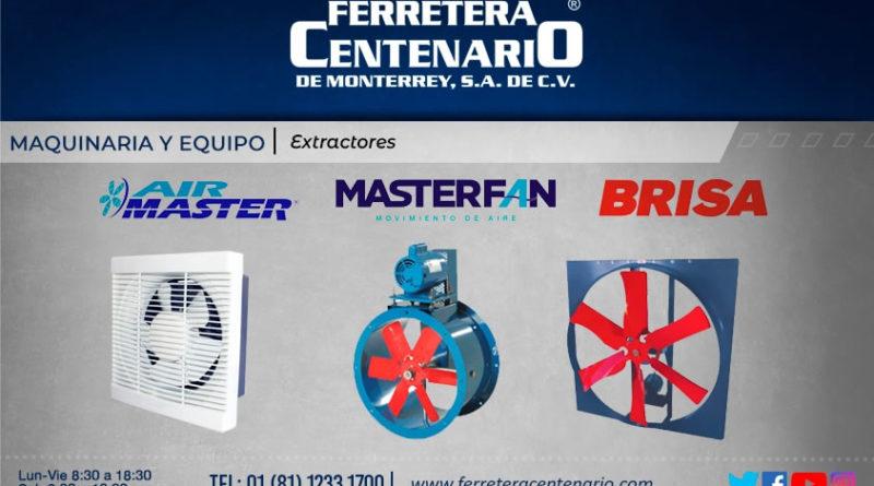 extractores maquinaria equipo ferretera centenario monterrey mexico air master brisa masterfan