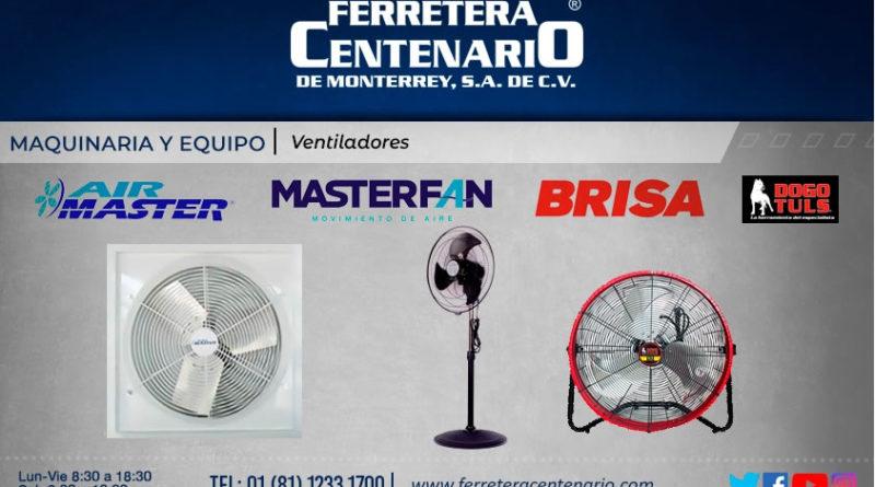 ventiladores maquinaria equipo air master masterfan brisa dogo tuls ferretera centenario monterrey mexico