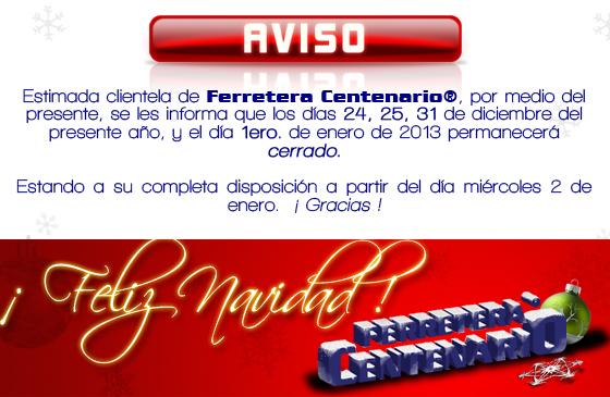 Feliz Navidad » Tienda de Herramientas - Ferretera Centenario - La Ferretería más grande de Monterrey