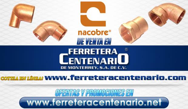 Nacobre venta Monterrey codos tuberias