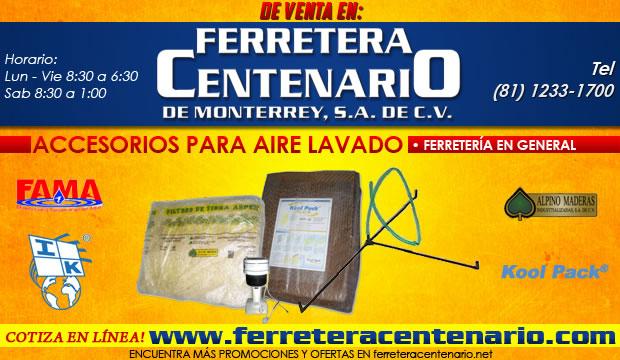 accesorios para aire lavado ferretera centenario monterrey