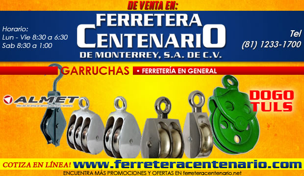 garruchas ferretera centenario monterrey venta