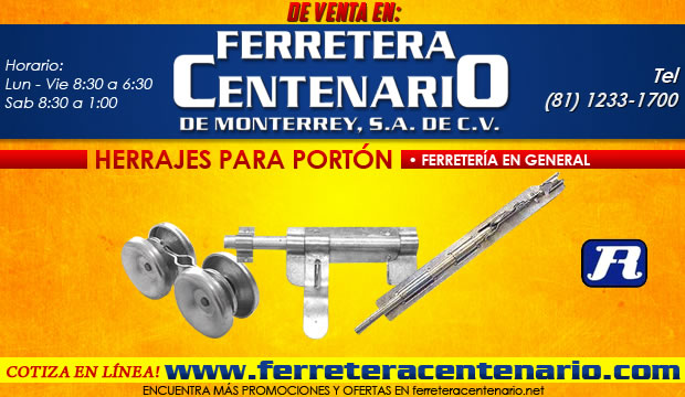herrajes para porton, venta Monterrey, ferreteria