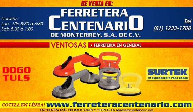 ventosas, Surtek, DogoTuls, venta Monterrey, ferreteria