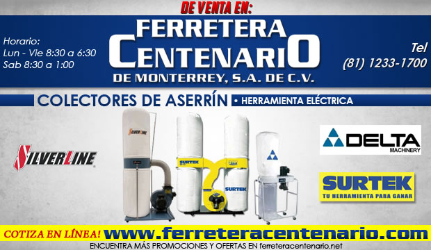 colectores de aserrin electricas herramientas ferretera centenario de monterrey