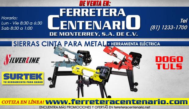 sierras cinta para metal monterrey ferretera centenario herramientas electricas