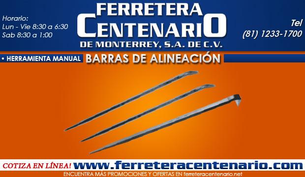 barras de alineación ferretera centenario de monterrey