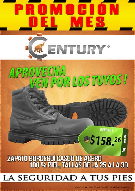 zapato casco de acero de piel ferretera centenario de monterrey