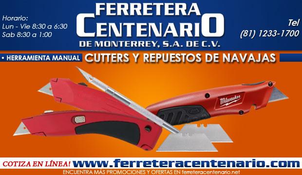 cutters repuestos de navajas ferretera centenario de monterrey herramientas