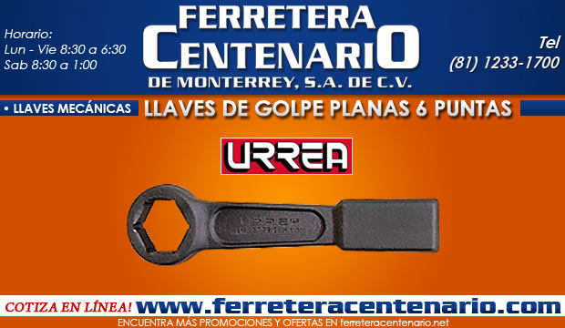 llave de gope plana 6 puntas ferretera centenario de monterrey herramientas mecanicas manual