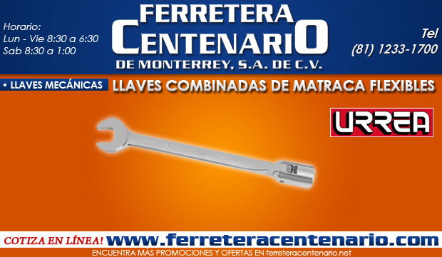 llaves combinadas de matraca flexibles