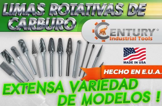 limas rotativas de carburo hecho en usa ferretera centenario de monterrey century industrial tools