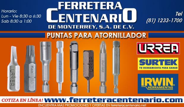puntas para atornillador ferretera centenario de monterrey herramienta manual