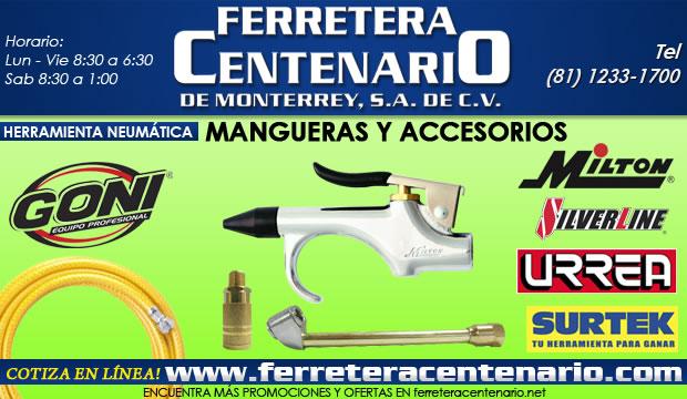 mangueras y accesorios herramientas neumaticas ferretera centenario de monterrey