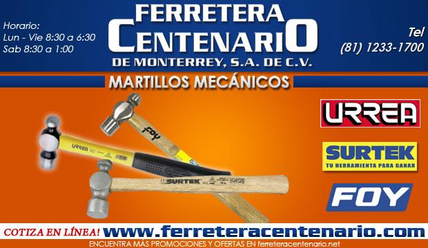 martillos mecanicos ferretera centenario de monterrey herramientas