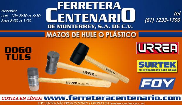 mazos de hule y plastico ferreteracentenario de monterrey herramientas