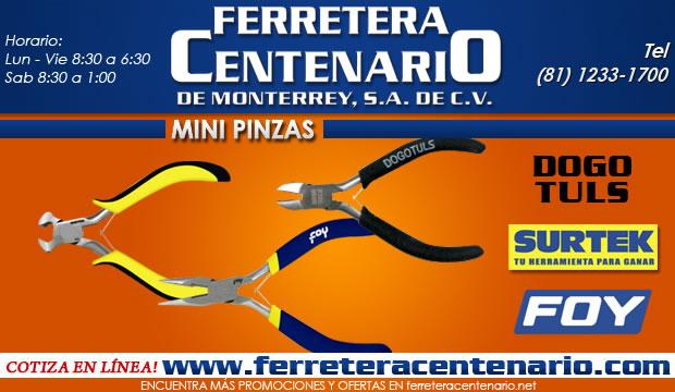 mini pinzas herramientas ferretera centenario de monterrey