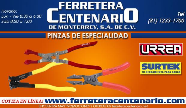 pinzas de especialidad ferretera centenario herramientas manuales de monterrey