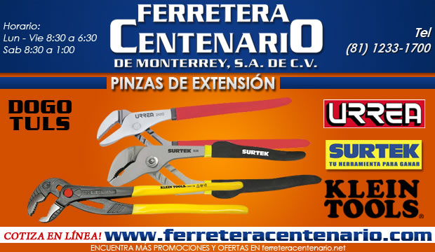 pinzas de extension ferretera centenario de monterrey herramientas manual