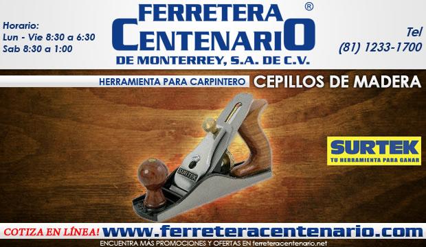 cepillos de madera surtek herramientas para carpinteros ferretera centenario de monterrey