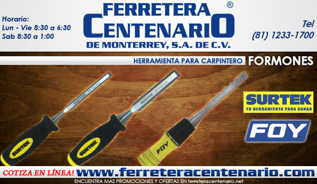 formones surtek foy herramientas para carpinteria ferretera centenario demonterrey
