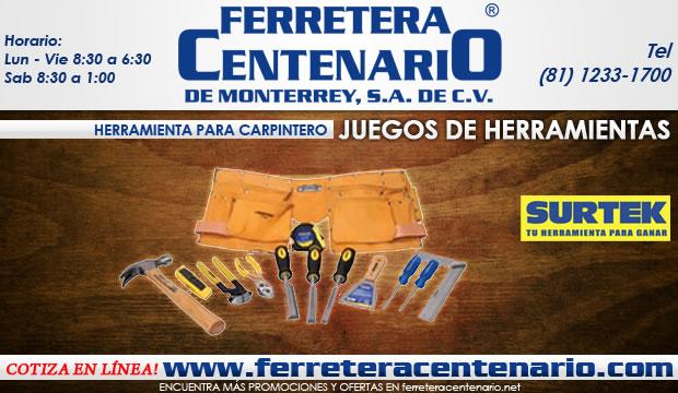 herramientas juegos carpinteros ferretera centenario de monterrey