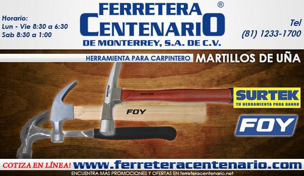 martillos de uña ferretera centenario de monterrey herramientas para carpinteros