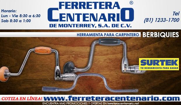 berbiquies herramientas para carpintero ferretera centenario de monterrey