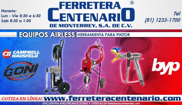 equipos airless herramienta para pintor ferretera centenario de monterrey