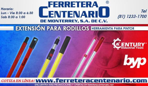 extension de rodillos herramientas pintor pintura ferretera centenario de monterrey