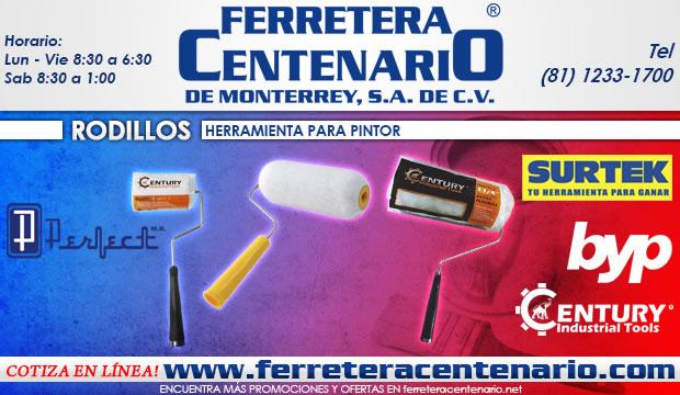 rodillos herramienta para pintor ferretera centenario de monterrey century industrial tools surtek byp perfect