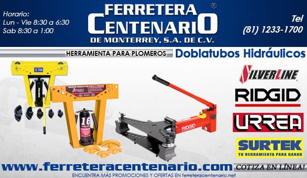 doblatubos hidraulicos dobladores de tubo ferretera centenario herramientas de monterrey