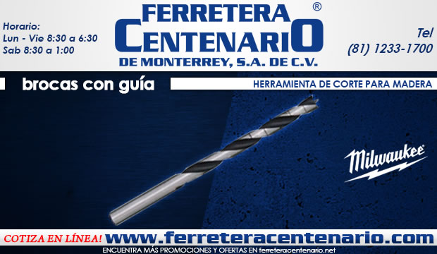 brocs con guia herramientas corte madera ferretera centenario de monterrey
