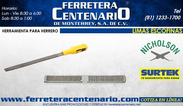 limas escofinas ferretera centenario de monterrey herramientas herrero herreria