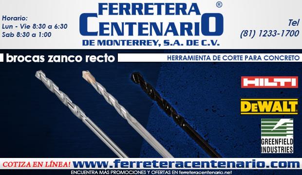 brocas zanco recto herramientas accesorios ferretera centenario de monterrey