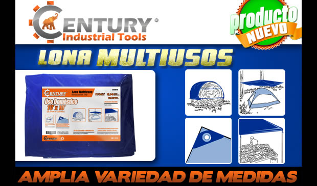 lona multiusos varias medidas ferretera centenario de monterrey century industrial tools producto nuevo