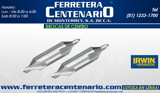 brocas de centro acceosrios herramientas para corte de metal ferretera centenario de monterrey
