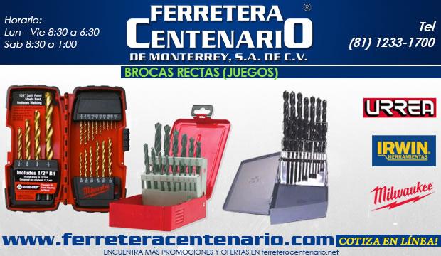 brocas rectas juegos accesorios para corte de metal herramientas ferretera centenario de monterrey