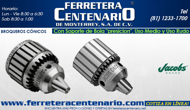 broqueros conicos con soporte de bola precision uso rudo y uso medio herramientas accesorios corte metal ferretera centenario de monterrey